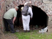 Birkby Lane Tunnel south mouth showing participants in Malcom Bull historic guided tour before being photoshopped out of the main picture