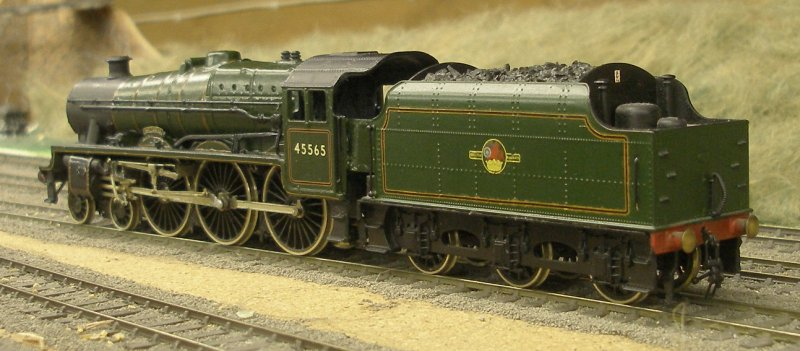 Bachmann Jubille body (Mainline) and tender with scratch-built chassis and RG4 motor