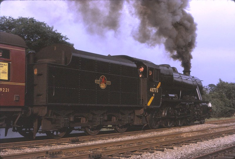 Rose Grove veteran was Stanier 8F 48773 powering one of the last day specials in August 1968.