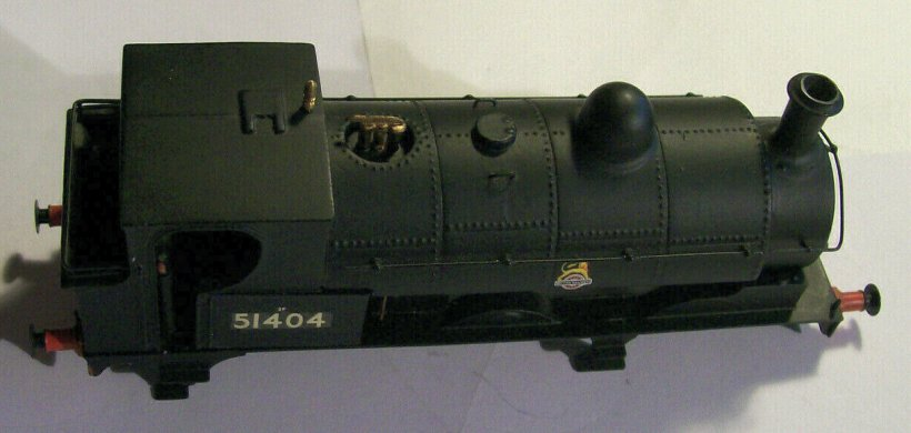 OOWorks LYR Barton Wright Class 23 0-6-0 saddle tank body top view, as purchased off eBay