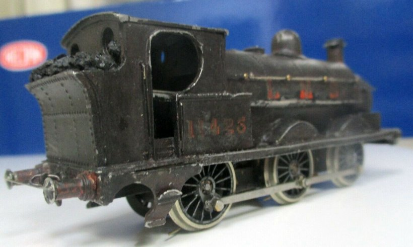 EM gauge Cotswold LYR Barton Wright Class 23 0-6-0 saddle tank three quarters rear view fireman's side