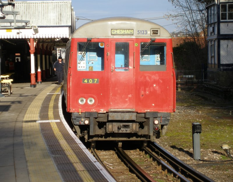 A60 4-car stock train standing at Chesham 09 December 2010