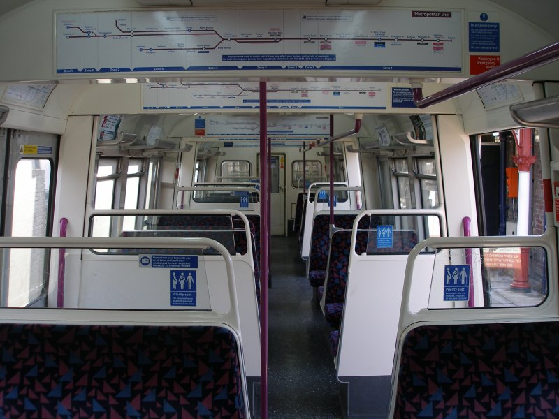 A60 stock interior as on 09 December 2010 looking away from driver's cab
