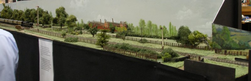 Guy William's Aylesbury (18.2mm gauge) showing the goods yard headshunt as it passes along Stocklake.