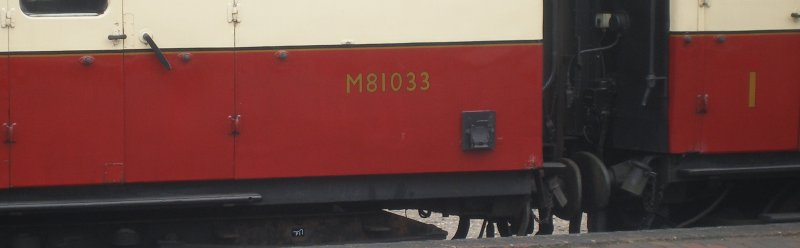 BR Mark 1 in red and cream livery showong old gold lining and letter.