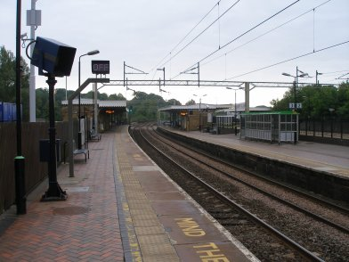 Berkhamsted Station Saturday 31 May 2014 looking towards London on Platform 4