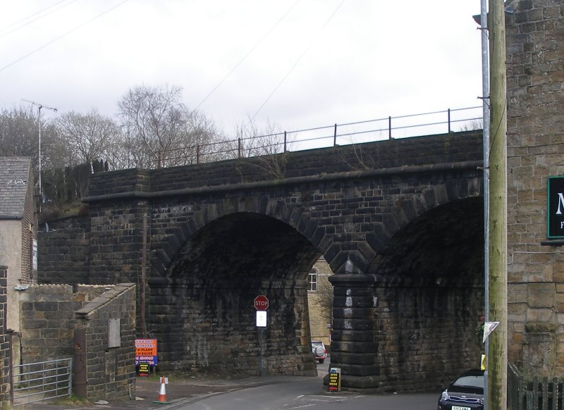 Gauxholme Canal Bridge and Viaduct (Bridge 101) photographed on Fridat 25 March 2016.