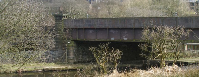 Gauxholme Canal Bridge and Viaduct (Bridge 101) photographed on Friday 25 March 2016.