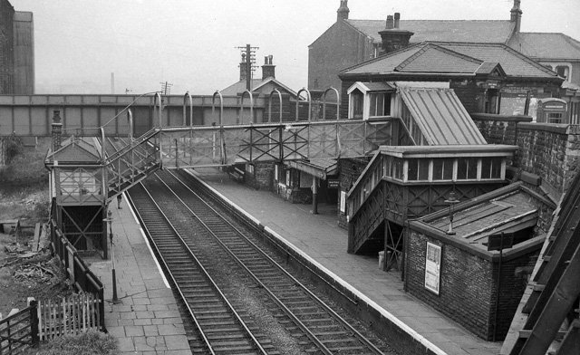 Burnley Barracks Station as photographed by Ben Brooksbank in the early 1960s.