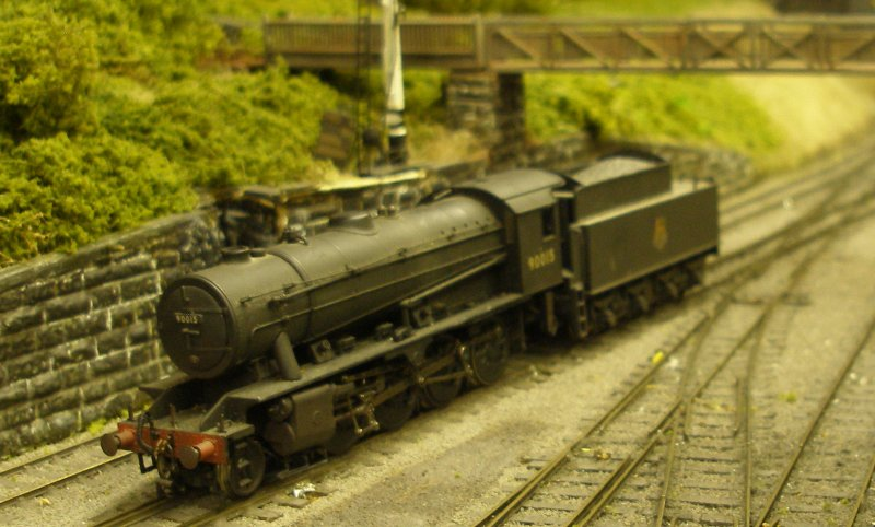 Bachmann WD Austerity 2-8-0 passes Hall Rpyd Junction on a running in trip after being 'hard wired' with a Zimo MX600R