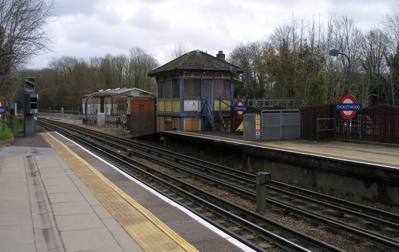 Chorleywood Station signal box, Metropolitan Line, London Underground: three quarters front view