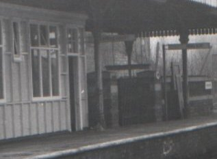 Detail of original Platform 2 waiting room just prior to demolition in the 1980s