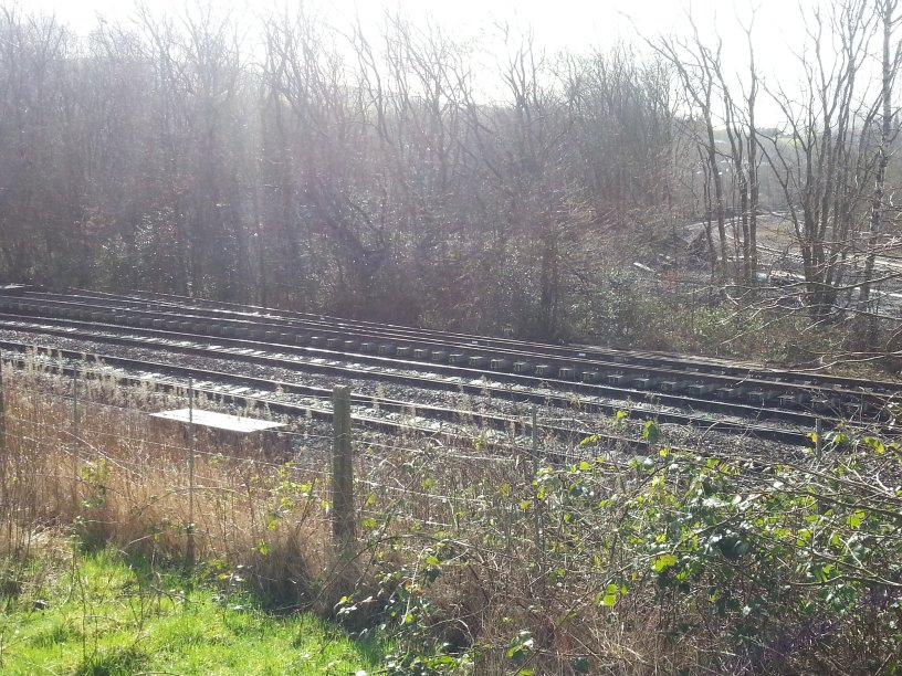 Stansfield Hall Junction 26 February 2014 showing new point waiting to be installed