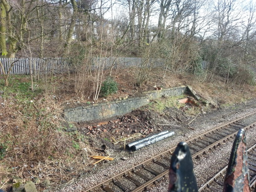 Site of Stansfield Junction Signal Box February 2014