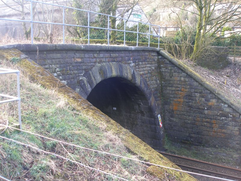 Dean Royd Tunnel (cut and cover) northern portal as photographed on 25 March 2016.
