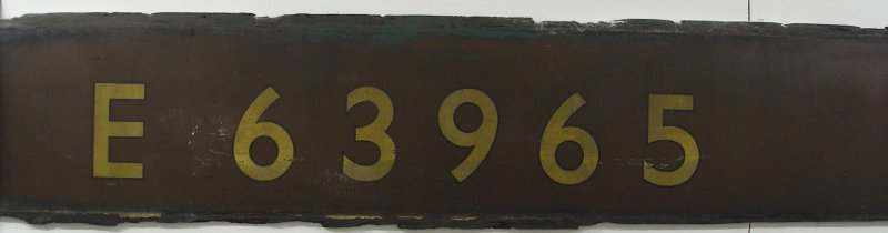 Original panel and BR number from LNER coach E63965