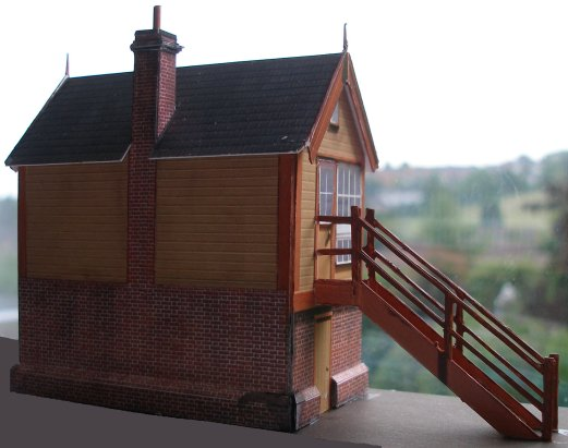 Assembled card kit of a LYR Size 6 signal box in 4mm scale