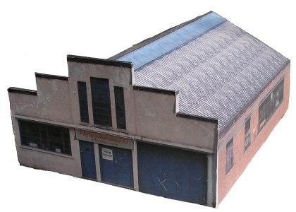 Flying Seats building Bellingdon Road Chesham free downloadable card model kit 4mm OO scale