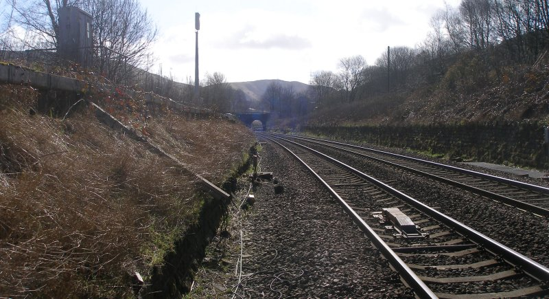 Calder Valley Main Line Light Bank Foot Crossing photographed on 25 March 2016 looking towards Manchester