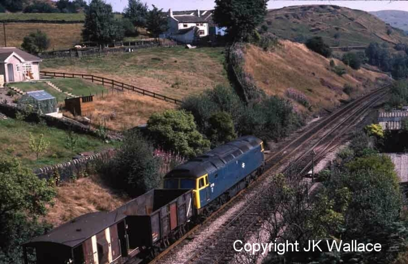 BR Class 47 47136 approaches Horsfield Tunnel on 26 August 1983