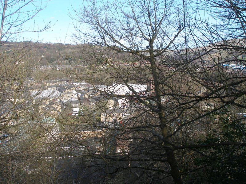 Todmorden triangle from above Lover's Walk, Todmorden 25 March 2016.