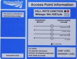 Network Rail Hall Royd Junction data panel