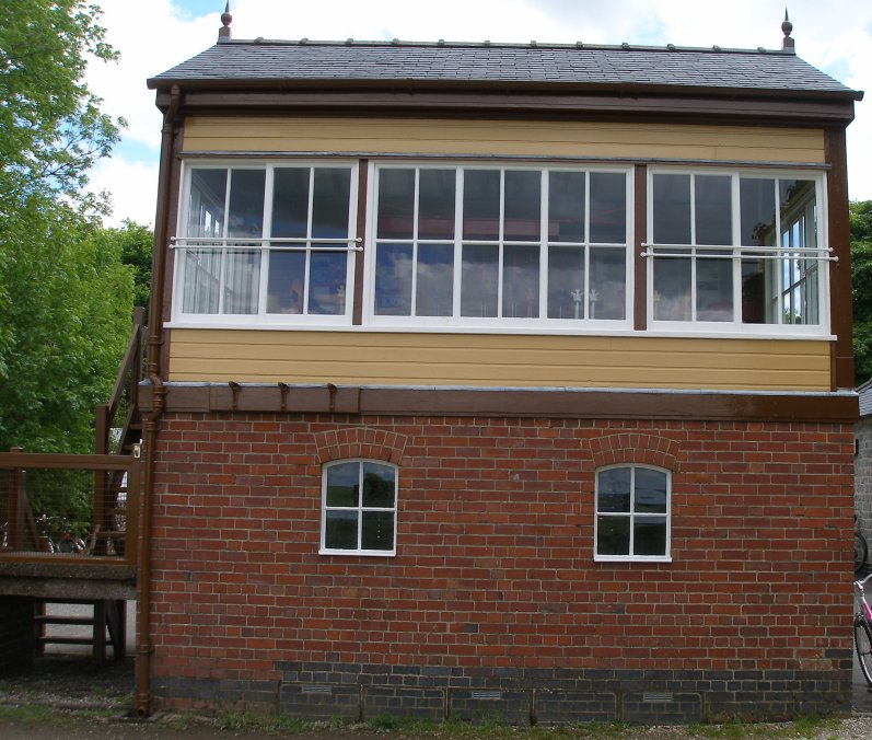 Preserved L&NWR signal box at Hartington on the Tissington Trail 8 June 2014 Front elevation