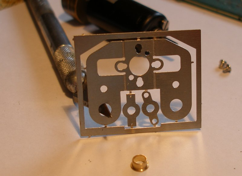 Hi-Level gear box fret showing the holes being reamed out to take the bearings