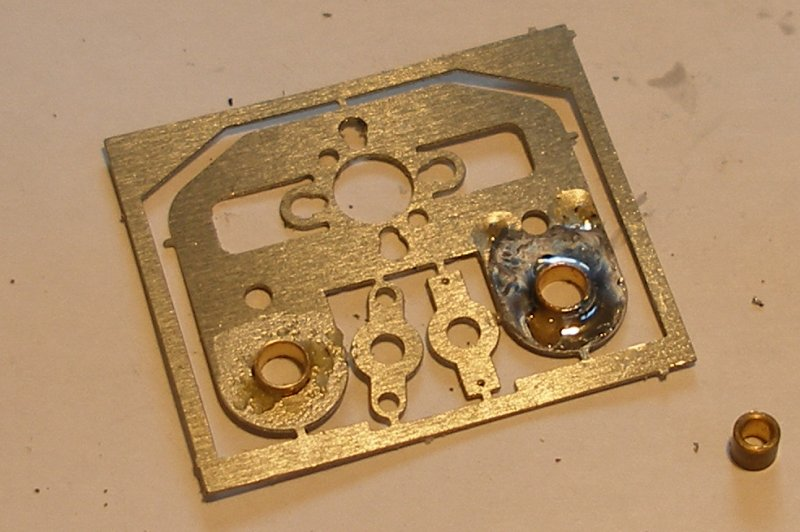 Hi-Level gear box showing the bearings being soldered to the gear box side.
