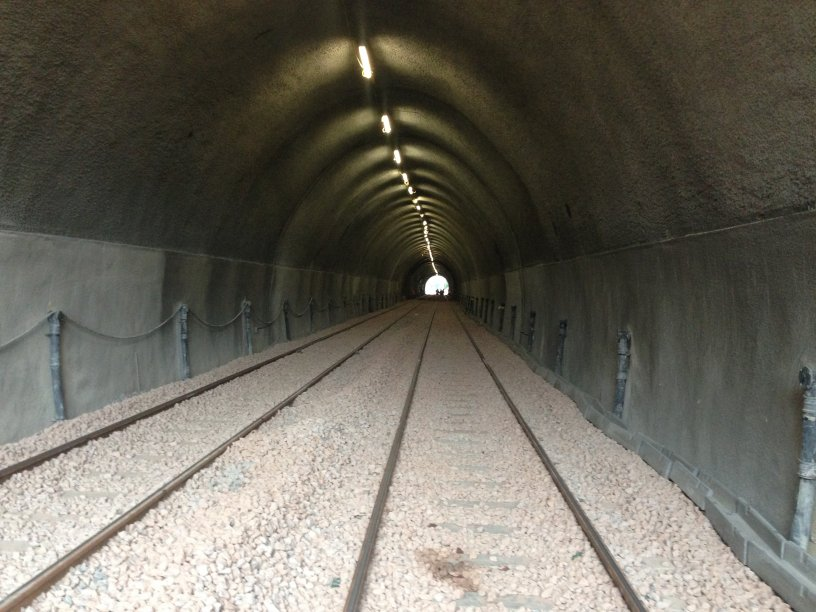 Interior of Holme Tunnel after extensive repairs were carried out in March 2014.