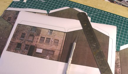Building the Halifax Road house kit: Print out a set of sheets