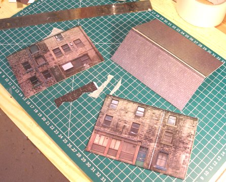 Building Halifax Road house kit: cut out sides