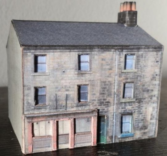 N-scaler Jerry Howlett's house created from a free downloadable kit from Hall-Royd-Junction.co.uk