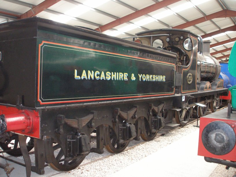 1896-built L&YR number 1300 (later LMS 12322 and BR 52322) arrived at Ribble Steam Railway in mid-December 2009 from the ELR, and as displayed in August 2013.