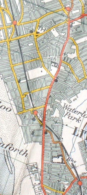 Ordnance Survey map 1961 showing railway line from Blundellsands & Crosby to Seaforth & Litherland station