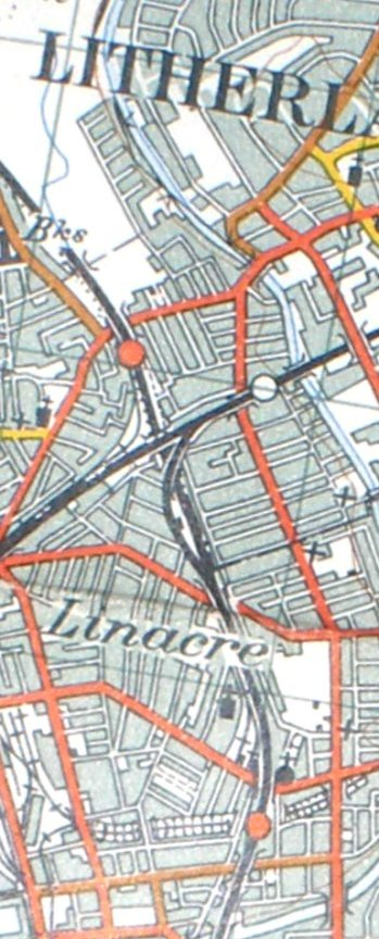 Section from the Ordnance Survey Map 1961 showing railway lines at Seaforth & Litherland.