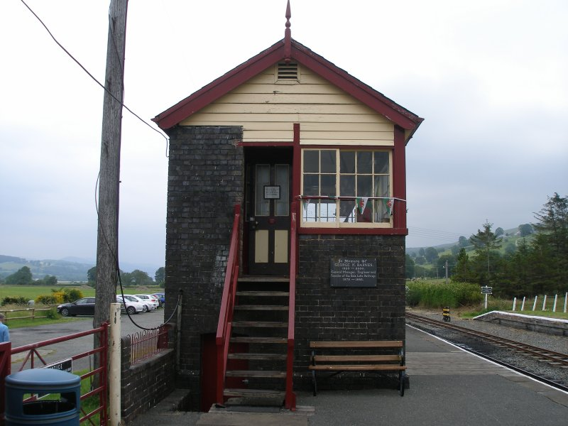 Llanuwchllyn Signal Box 16 July 2015: door end
