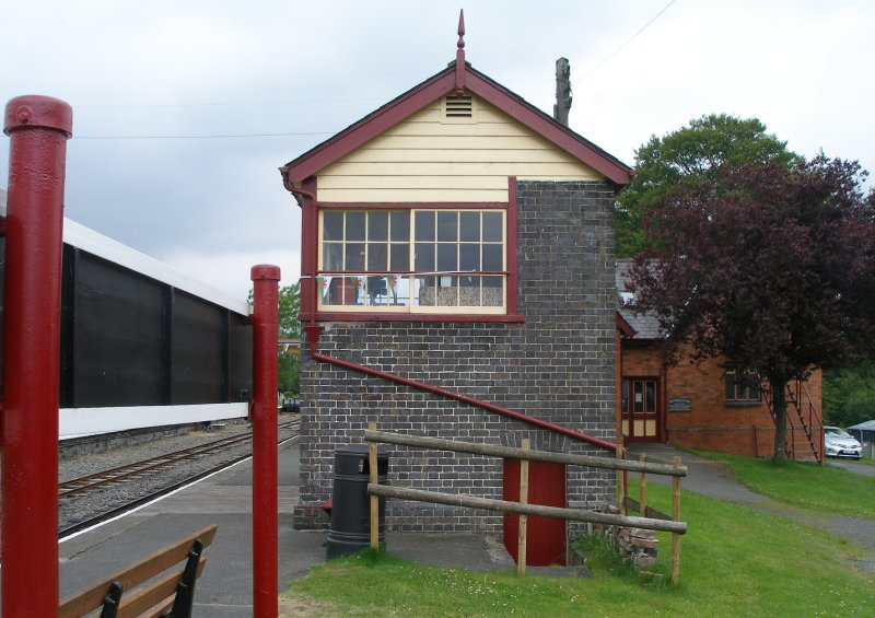 Llanuwchllyn Signal Box 16 July 2015: end gable