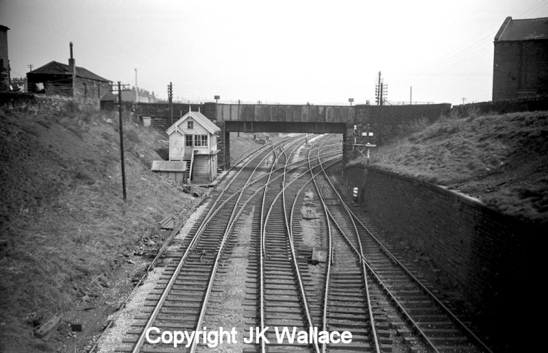 Low Moor No. 1 signal box and tunnel mouth