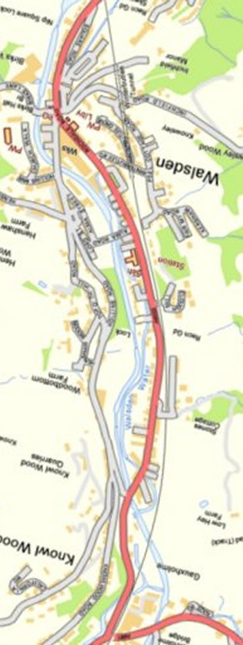 Section from Ordnance Survey OpenSource 2013 showing L&YR railway line from Winterbutlee Tunnel to Gauxholme Viaduct.