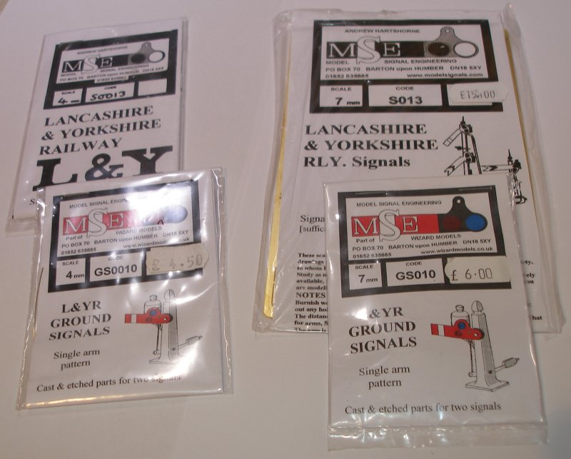 MSE L&YR signal arm packs S013, GS0013, S010 and GS010