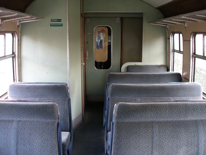 Metro-Cammell DMU Class 101 showing 2nd class seating and panelling