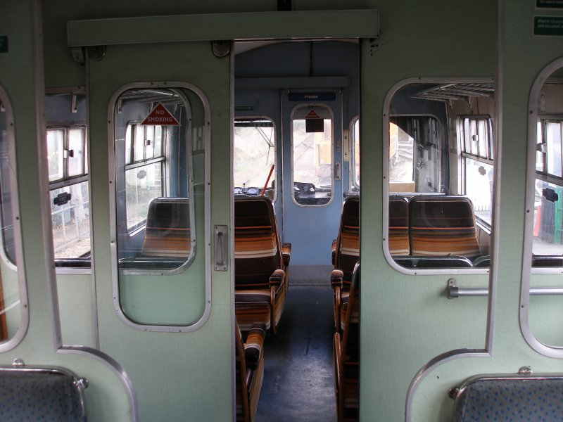 Metro-Cammell DMU Class 101 showing 1st class seating and panelling