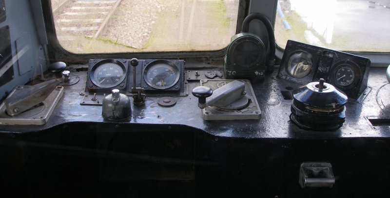 Metro-Cammell DMU Class 101 showing left hand of driver's desk
