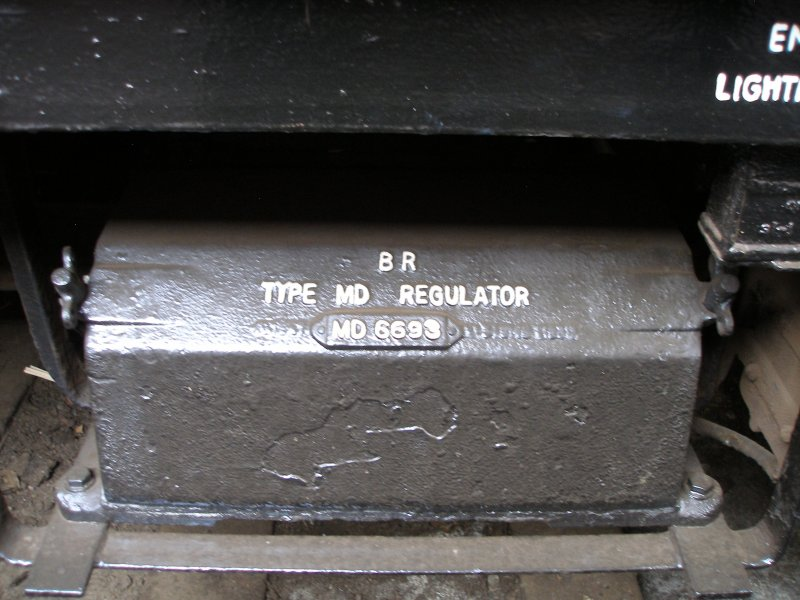 BR Mark 1 coach underframe detail: Type MD Regulator cover and bracket