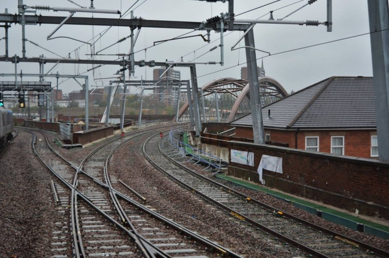 Ordsall Curve curved diamond crossing October 2017