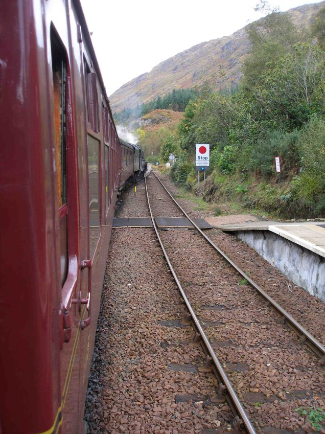 Train departing Glenfinnan