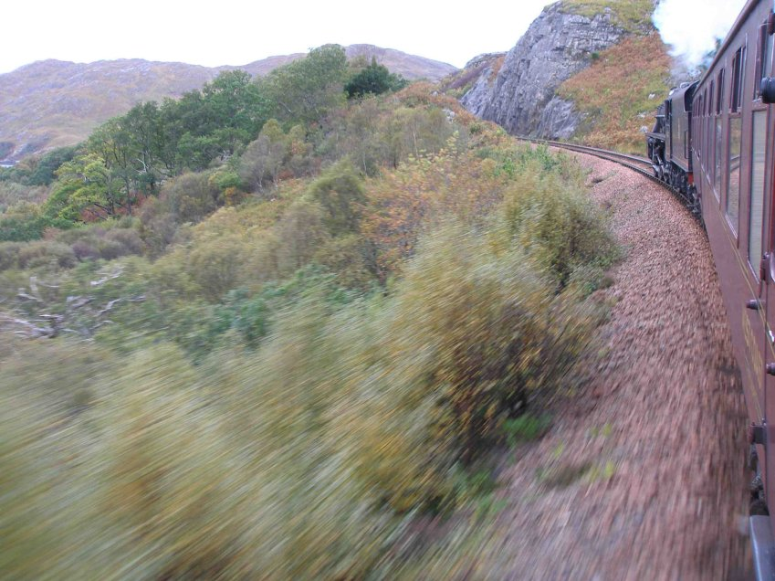 The scenery is stunning, and the loco action on the 1 in 48 approaching Beasdale oustanding!