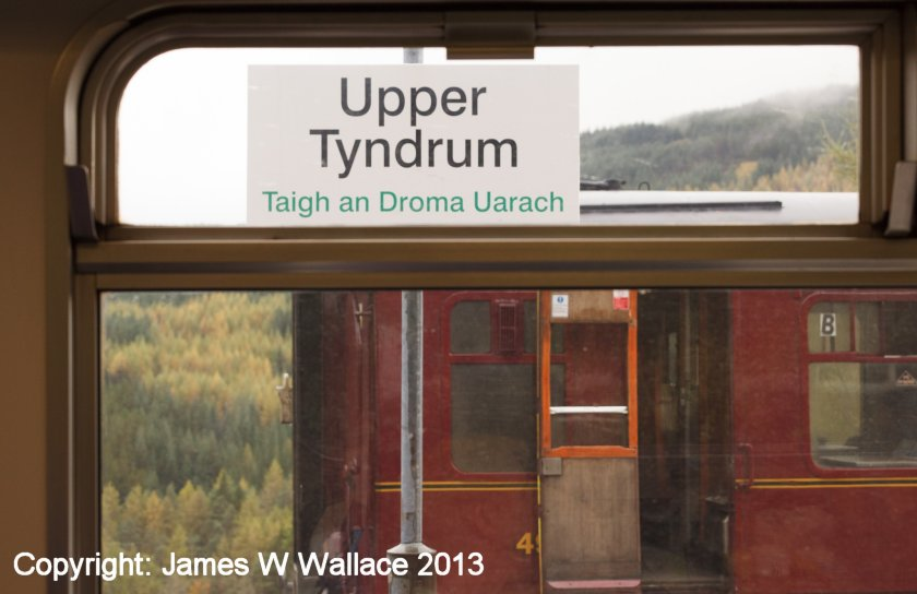 Lower Tyndrum, and the last carriage of the photo charter Saturday 19 October 2013