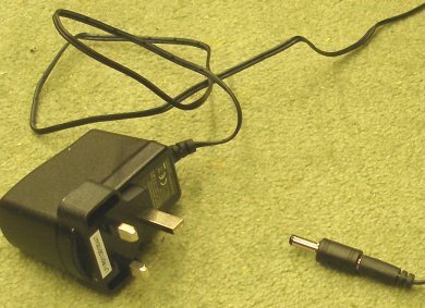 NCE Powercab UK 13-amp power adaptor with 230 volt input and 12 volt output.